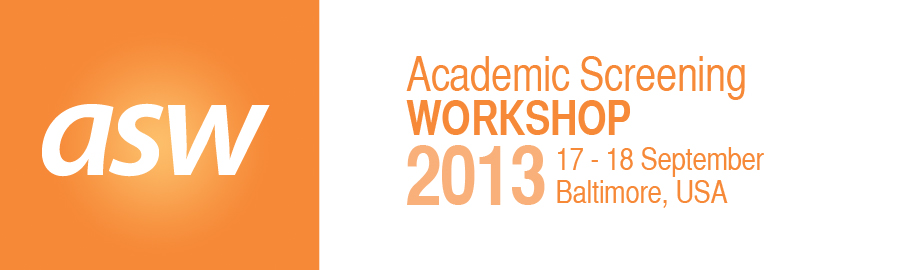 Academic Screening Workshop 2013