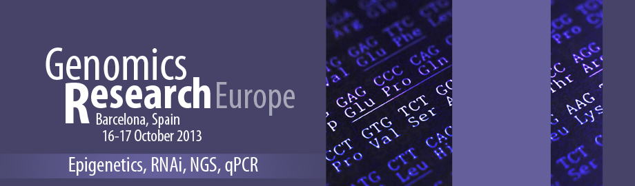 Genomics Research Europe 2013