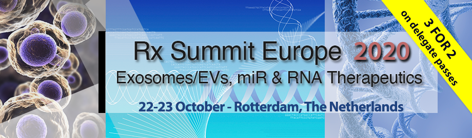 Rx Summit Europe 2020: EV, microRNA & RNA Therapeutics